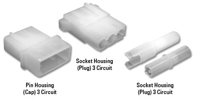 Commercial MATE-N-LOK Series 10 Positions Connector Housing 4.95 mm, Pack of 20 Receptacle 1-480339-0